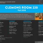 Clemons Room 220 Poster F2018